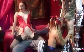 Thoroughbred De Sergio, Tyler Coolness And Brianna Love In Cosplay Group Sexual relations Party With Hot Teens And Guys With Huge Cocks