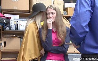 Mature woman and their way stepdaughter get punished for shoplifting