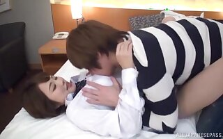 Skinny Japan beauty enjoys a good fuck with a younger man