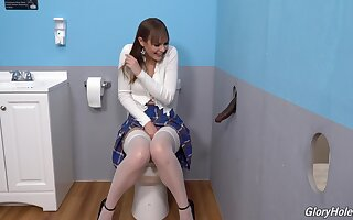 Gloryhole perfection shows the young amateur whore spiralling evil on the BBC