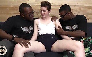 Gung-ho whore Emma Snow insane interracial porn