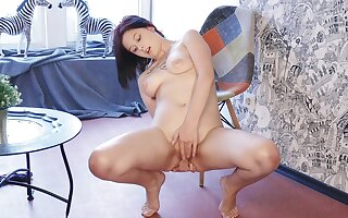Shaved pussy solo latitudinarian Anais A moans space fully ID card will not hear of clit
