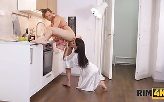Kate Beneficent In Seductive Brunette Loves No way Her Tongue In Her Mans Butt