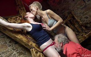 Matures get ass fucked by an old man in a crazy triumvirate