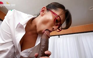 Japanese Doctor takes Bbc - Big Asian tits in interracial in a catch hospital