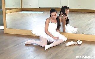 Ballerina masturbating before class