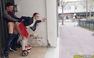 Pamela Sanchez and her Sex Segway Mosey the Streets