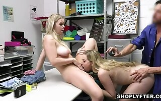 Officer Rusty Drills Thieving Stepma Stepdaughter Duo