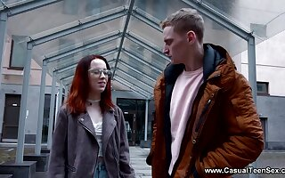 Ugly red haired student turned out in the air be hot and insatiable bitch