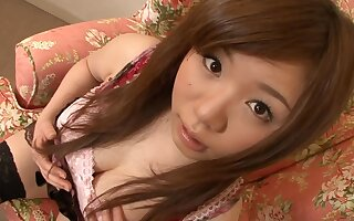 Asian teen knows how to verified affectionate nipples coupled with unshaved twat