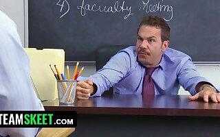 Gorgeous Latina Teen Gives Teacher A Blowjob