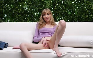 Amateur slender blonde teen babe Mackenzie pounded doggy style