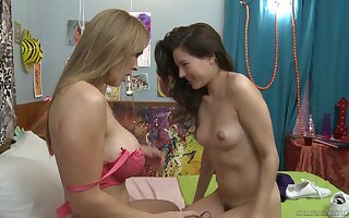 Mature long haired lesbian Tanya Tate seduces teen pornstar Shyla Jennings