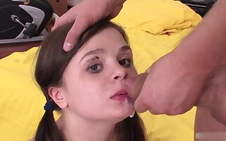 Amazing beautiful brunette teen like fucking