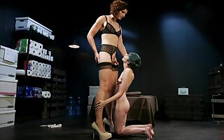 Punk teen babe Mercy West abused in bondage by shemale Allysa Etain