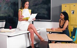 Educator Cherie DeVille hooks up with despondent student Jeni Angel