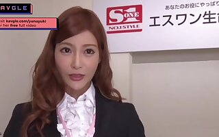 Arousing uncensored Japanese mommy office partition making love her colleagues