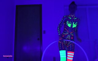 Blacklight Paint Dildos & Hooping- Sometimes non-standard due to you for 50K!